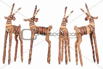 Handmade wooden dear