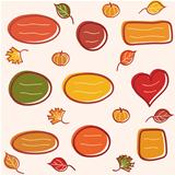 Collection of  autumn  text frames