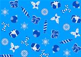 seamless blue background for Christmas