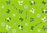 seamless green background for Christmas