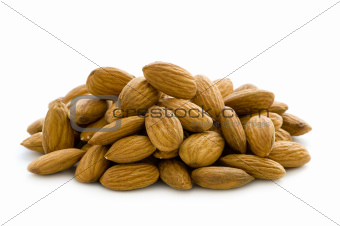 shelled whole almond nuts