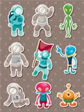 alien and astronaut stickers
