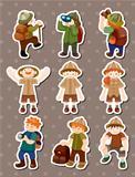 set of Adventurer people stickers
