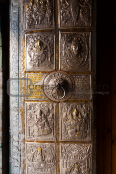 Bhimakali Temple Ornamental Metal Door Sarahan V