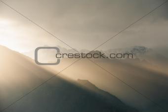 Sunlight Mountain Landscape Himalayas Sarahan