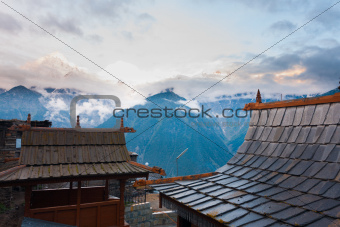 Kalpa Temple Roof Kailash Mountain