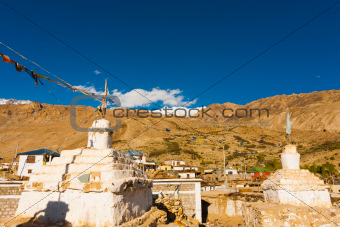 Stupa Nako Spiti Valley Buddhist Village India