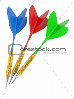 Set of darts. Isolated on White.