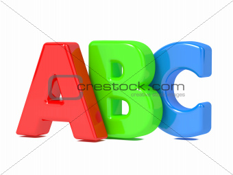 ABC Letters Isolated on White.