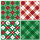 Argyle-Plaid Patterns in Red and Green