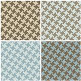 Different Houndstooth in Blue and Brown