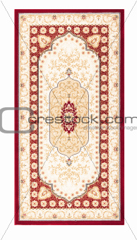 Carpet frame art retro vintage persian desig