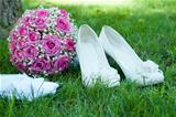 wedding accessories of the bride