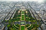 Paris center aerial view