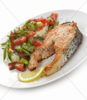 Salmon With Potatoes And Vegetables