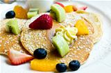 Pancake with fresh fruit