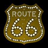 Illuminated Route 66 Sign
