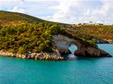 Landscapre of the coast of Gargano Apulia Italy