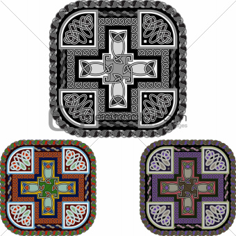 cross and celtic ornament