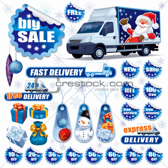Blue Christmas sale