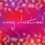 Pink Christmas Card With Bokeh