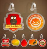 Set of Halloween stickers.