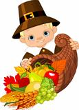 Pilgrim with cornucopia