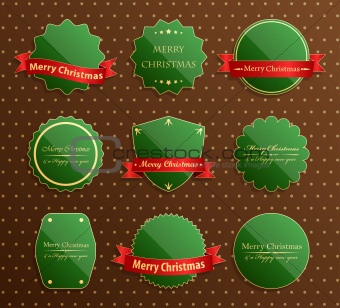 Set of christmas luxury labels.