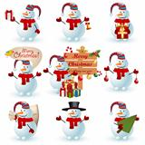 Collection of snowman.