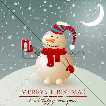 Christmas vintage snowman.
