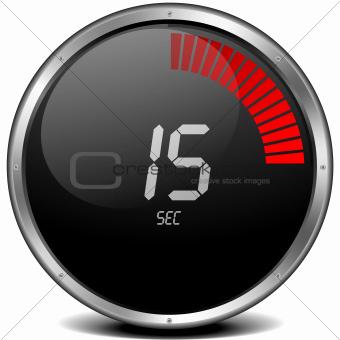 digital stop watch 15s