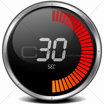 digital stop watch 30s