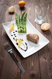 Fillet of pork with asparagus