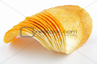 Arrangement of Potato Chips