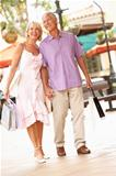 Senior Couple Enjoying Shopping Trip