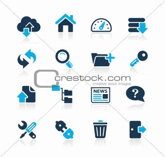 Communication Icons Azure Series