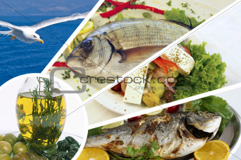 Fresh fishes with lemon, parsley and spice of Aegean sea
