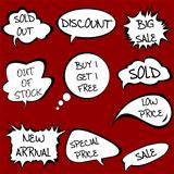 Speech bubbles set with sale messages