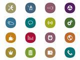 Retro mobile interface Icon Set