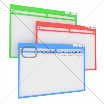 Computer window.
