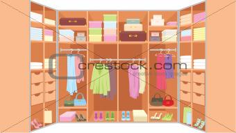 Wardrobe room.
