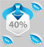 Discount sale labels set