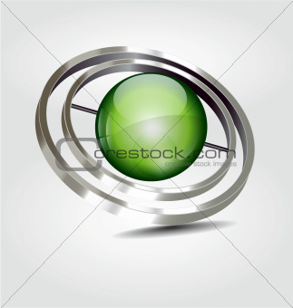 Abstract 3D vector logotype