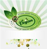 Vegan  vector background