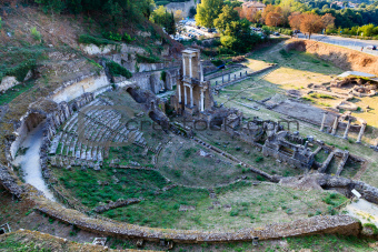 Ancient Roman Theatre of Volterra in Tuscany, Italy