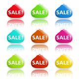 Sale banners shaped as purse