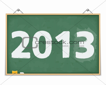 Blackboard with number 2013