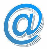 Blue Email Symbol