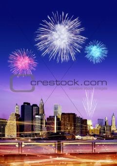 firework over New York
