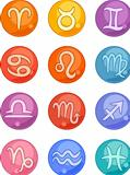Zodiac horoscope signs icons